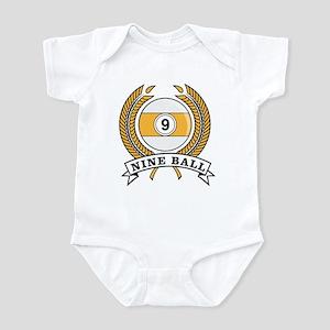 Nine Ball Yellow Emblem Infant Bodysuit