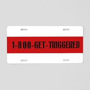 Get Triggered Redneck Aluminum License Plate