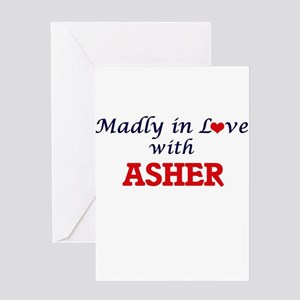 Madly in love with Asher Greeting Cards