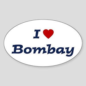 I HEART BOMBAY Oval Sticker