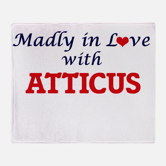 Madly in love with Atticus Throw Blanket