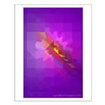 Technocubist Flower Small Poster