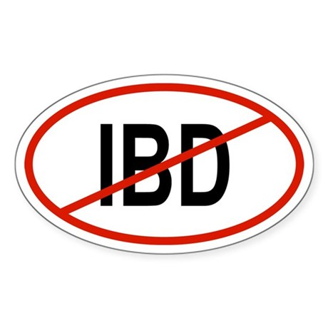 IBD Oval Sticker