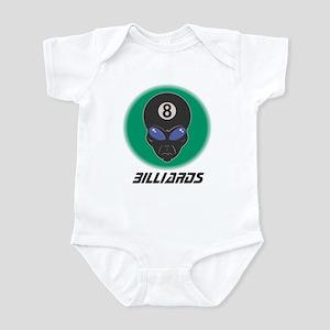 Billiards Eight Ball Alien Infant Bodysuit