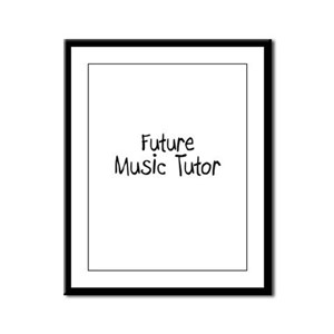 Future Music Tutor Framed Panel Print