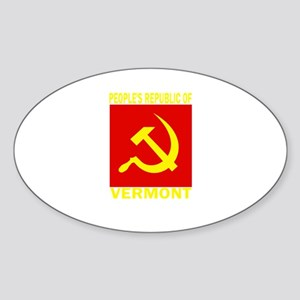 People's Republic of Vermont Oval Sticker