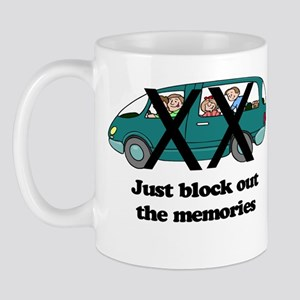 minivan block memories out color Mugs