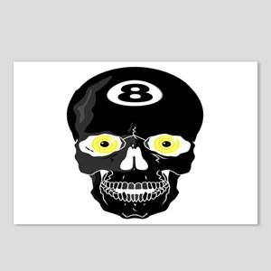 Eight Ball Skull Postcards (Package of 8)