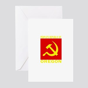People's Republic of Oregon Greeting Cards (Pk of