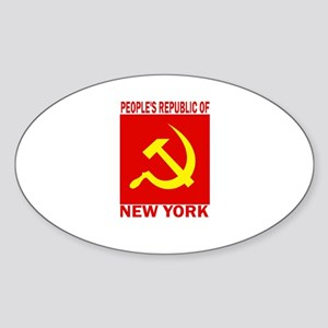 People's Republic of New York Oval Sticker
