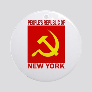 People's Republic of New York Ornament (Round)