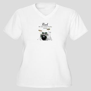 Pearl Drummer Women's Plus Size V-Neck T-Shirt