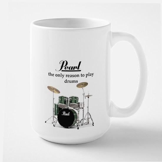 Pearl Drummer Large Mug