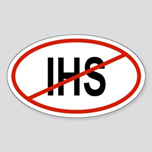 IHS Oval Sticker