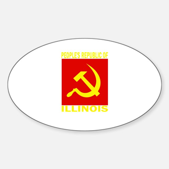 People's Republic of Illinois Oval Decal