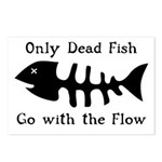 Only Dead Fish Postcards (Package of 8)