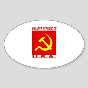 HIllary's Republic of USA Oval Sticker