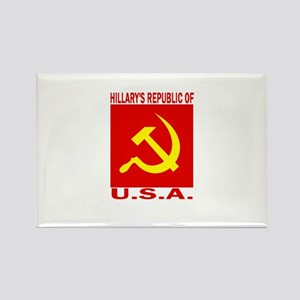 HIllary's Republic of USA Rectangle Magnet