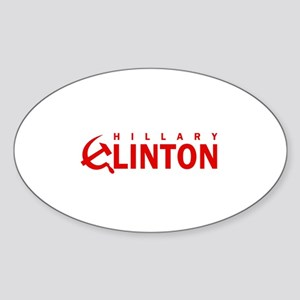 Anti-Hillary Clinton Oval Sticker