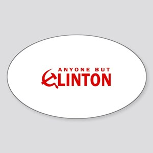 Anyone But Clinton Oval Sticker