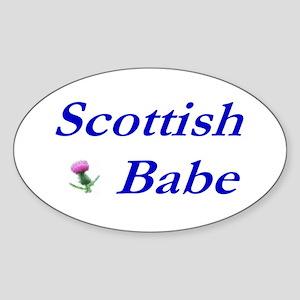 Scottish Babe Oval Sticker