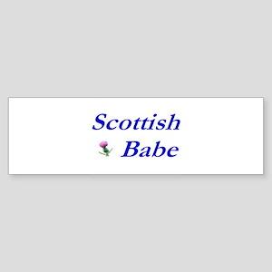 Scottish Babe Bumper Sticker