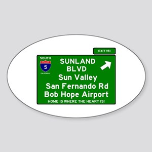 I5 INTERSTATE EXIT SIGN - CALIFORNIA - SUN Sticker