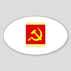 People's Republic of San Fran Oval Sticker