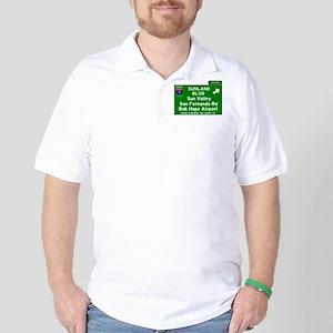 I5 INTERSTATE EXIT SIGN - CALIFORNIA - Golf Shirt