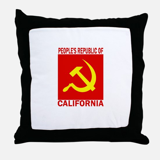 People's Republic of Californ Throw Pillow