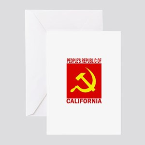 People's Republic of Californ Greeting Cards (Pk o
