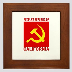 People's Republic of Californ Framed Tile