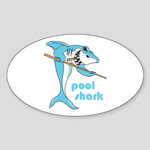Pool Shark Oval Sticker