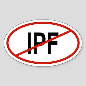 IPF Oval Sticker