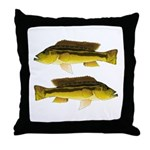 Brownspot Largemouth Cichlid Throw Pillow