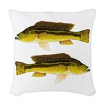 Brownspot Largemouth Cichlid Woven Throw Pillow