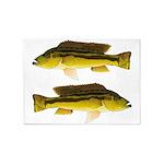 Brownspot Largemouth Cichlid 5'x7'Area Rug
