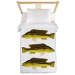 Brownspot Largemouth Cichlid Twin Duvet Cover
