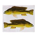 Brownspot Largemouth Cichlid Throw Blanket