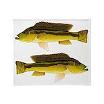 Brownspot Largemouth Cichlid Throw Blanket