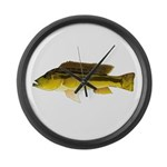 Brownspot Largemouth Cichlid Large Wall Clock