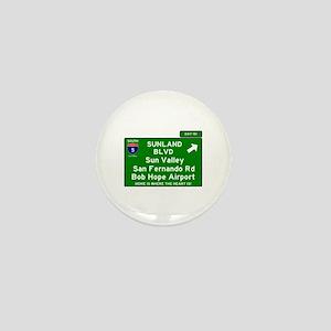 I5 INTERSTATE EXIT SIGN - CALIFORNIA - Mini Button