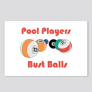 Pool Players Bust Balls Postcards (Package of 8)