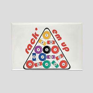 Rack' Em Up Rectangle Magnet