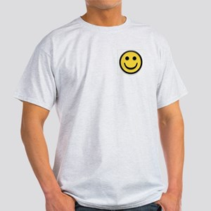 Classic Yellow Smiley Face Ash Grey T-Shirt