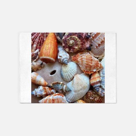 Seashells by the Seashore 5'x7'Area Rug
