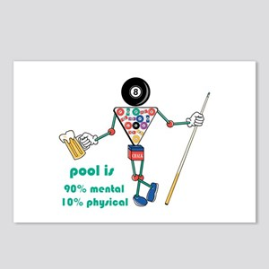 Pool: 90% Mental 10% Physical Postcards (Package o
