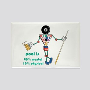 Pool: 90% Mental 10% Physical Rectangle Magnet