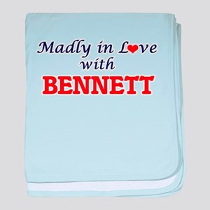 Madly in love with Bennett baby blanket