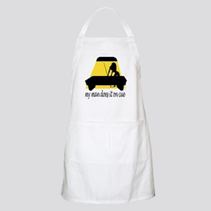 My Man Does It On Cue BBQ Apron